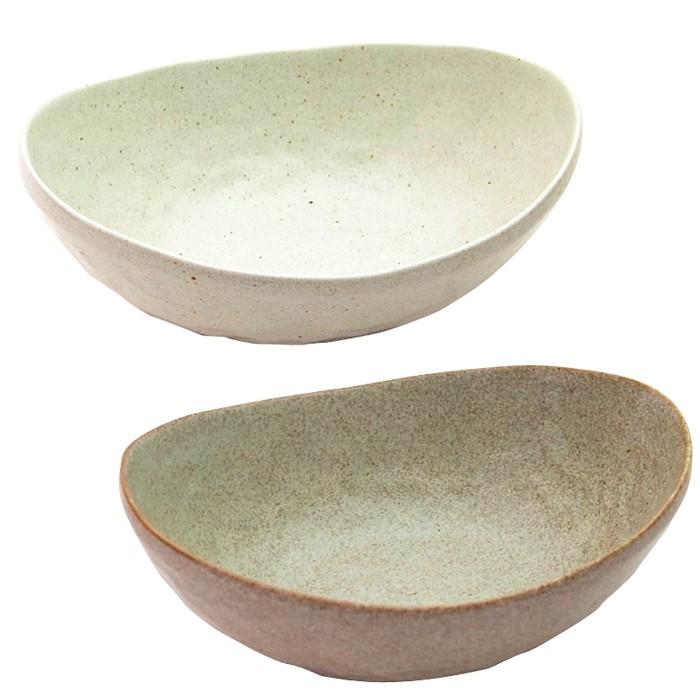 白釉カレー皿・灰釉カレー皿